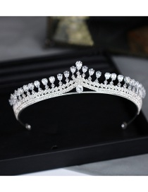 Fashion Silver Color Diamond Decorated Multi-layer Hair Accessories