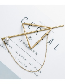 Sweet Gold Color Triangle Shape Desgin Hair Clip