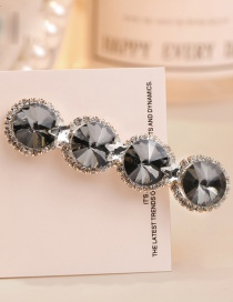 Sweet Gray+black Full Diamond Design Simple Hair Clip
