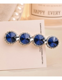 Sweet Sapphire Blue Full Diamond Design Pure Color Hair Clip
