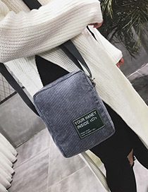 Fashion Gray Letter Pattern Decorated Shoulder Bag