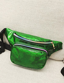 Fashion Green Zipper Decorated Bag