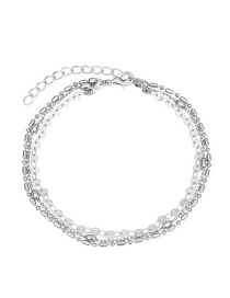 Fashion Silver Color Pure Color Decorated Ankle Chain