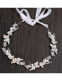Fashion Silver Color Flower Shape Decorated Hair Band