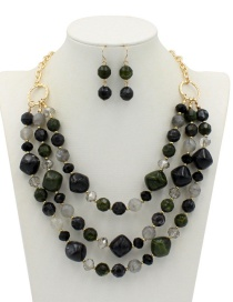 Fashion Black Multi-layer Deisgn Jewelry Sets