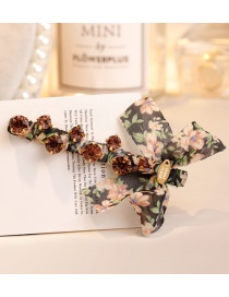Fashion Black Flower Pattern Decorated Hair Clip
