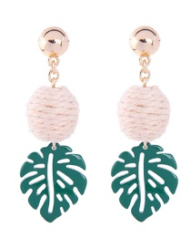 Fashion Green Leaf Shape Decorated Earrings