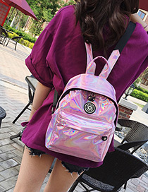 Fashion Pink Badge Decorated Leisure Travel Bag