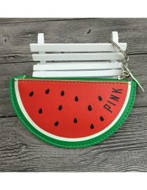 Lovely Red+green Watermelon Shape Design Wallet