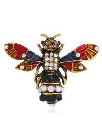 Exaggerated Multi-color Insect Shape Design Color Matching Brooch