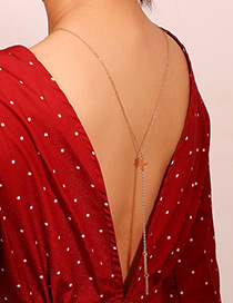 Fashion Gold Color Star Shape Decorated Back Chain