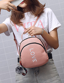 Fashion Pink Letter Pattern Decorated Bag