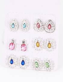 Fashion Multi-color Hollow Out Design Earrings Sets(6 Pairs)