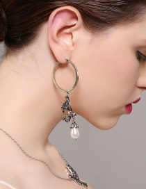Fashion Silver Color Bird Shape Decorated Earrings