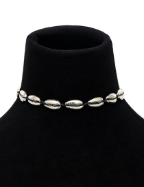 Fashion Silver Color Shell Shape Decorated Necklace