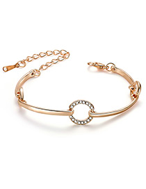 Fashion Gold Color Circular Ring Shape Decorated Bracelet