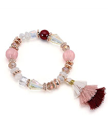 Fashion Multi-color Tassel Decorated Bead Bracelet