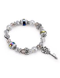 Fashion Multi-color Key Shape Decorated Bracelet