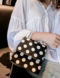 Elegant Black Dots Pattern Decorated Square Shape Bag