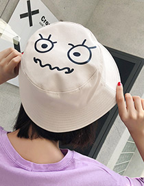 Fashion Beige Cartoon Pattern Decorated Leisure Cap