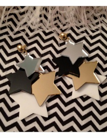 Fashion Multi-color Star Shape Design Color Matching Earrings