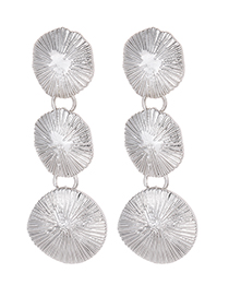 Fashion Silver Color Round Shape Decorated Pure Color Earrings