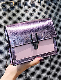 Fashion Purple Pure Color Decorated Bag