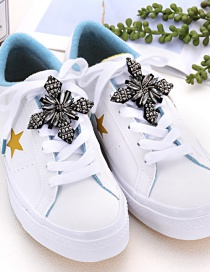 Fashion Gray Cross Shape Decorated Shoe Accessories(2pcs)