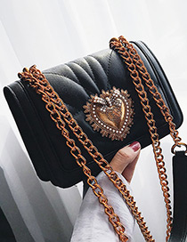 Fashion Black Heart Shape Decorated Bag