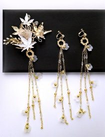 Fashion Gold Color Tassel Decorated Jewelry Sets