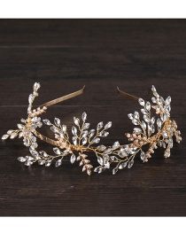 Fashion Gold Color Full Diamond Decorated Hair Accessories