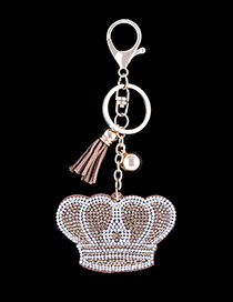 Fashion Khaki Crown Shape Decorated Keychain