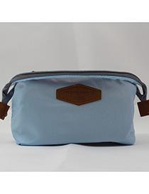 Fashion Blue Letter Pattern Decorated Storage Bag