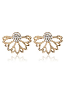 Fashion Gold Color Hollow Out Design Earrings