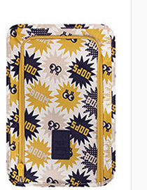 Fashion Yellow Letter Pattern Decorated Storage Bag