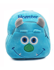 Fashion Blue Monster Shape Decorated Bag