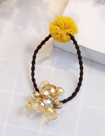 Fashion Black+yellow Bear Shape Decorated Hair Band