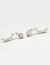Fashion Silver Color Star Shape Decorated Earrings