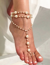 Vintage Gold Color Full Pearls Decorated Anklet