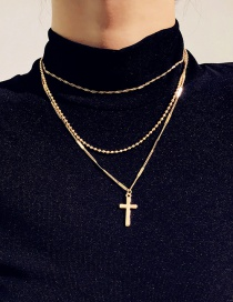 Fashion Gold Color Tassel Multilayer Necklace With Diamond Claw Chain