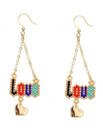 Fashion Gold Color Letter Pattern Decorated Earrings