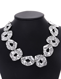 Fashion Silver Color Irregular?shape?decorated?necklace