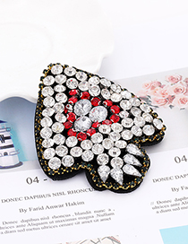 Fashion Silver Color Diamond Decorated Patch