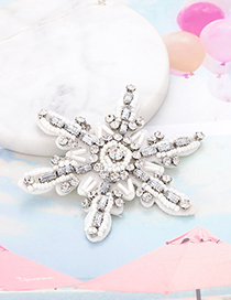 Fashion White Flower Shape Decorated Pure Color Patch
