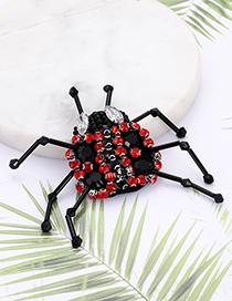 Fashion Black+red Ladybug Shape Decorated Patch