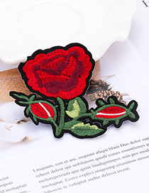 Fashion Red Flower Shape Decorated Patch