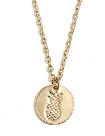 Fashion Gold Color Pineapple Pendant Decorated Necklace