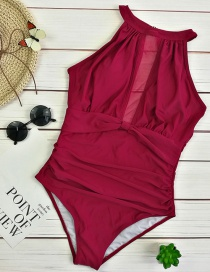 Sexy Red Pure Color Design Off-the-shoulder Bikini
