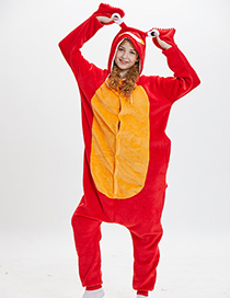 Lovely Red+orange Cartoon Crayfish Shape Design Pajamas(for Adult)