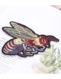 Fashion Multi-color Embroidered Bee Shape Design Patch